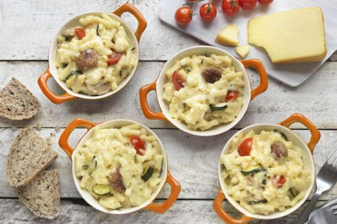 Quorn Swedish Style Balls with macaroni cheese
