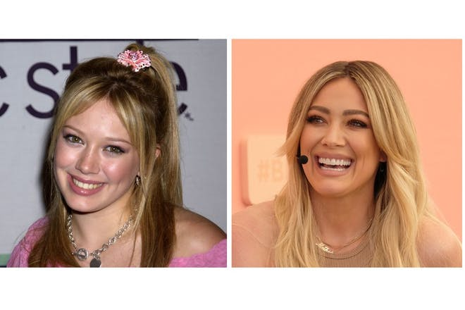 Hilary Duff then and now