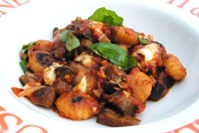 Tomato and aubergine gnocchi