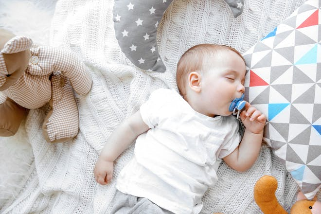 Baby sleeping unsafely