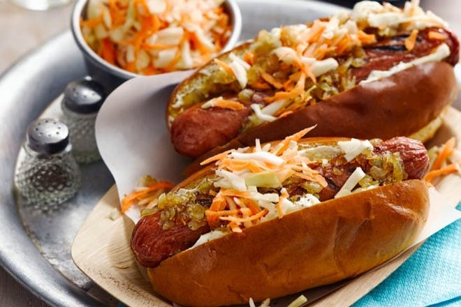 25. Seattle-style hot dogs