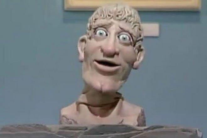 The creepy head from Art Attack