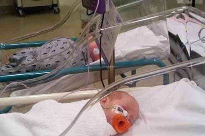 Babies in hospital