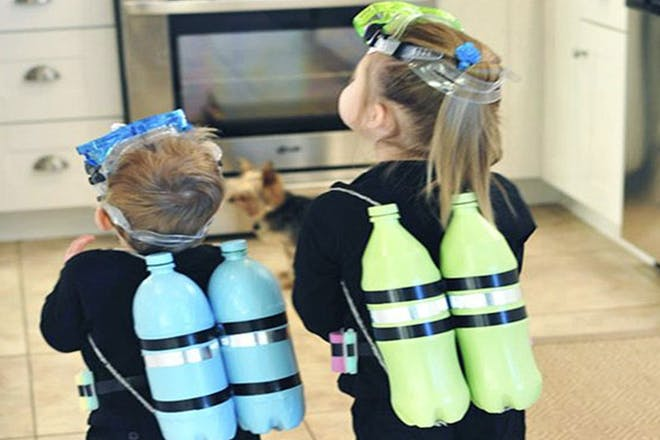Children dressed as divers