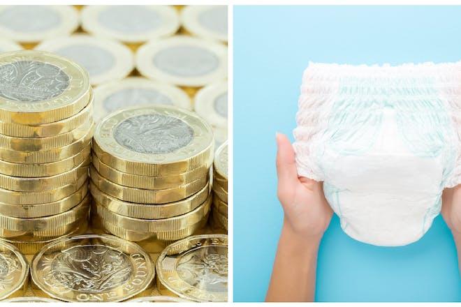 Money / disposable nappy