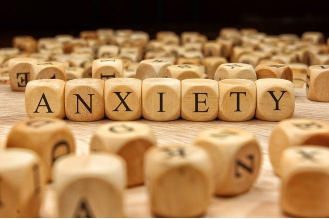 anxiety wooden blocks
