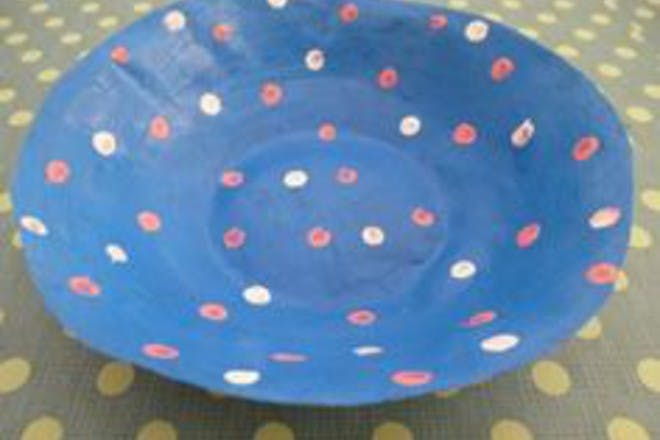 paper mache plate