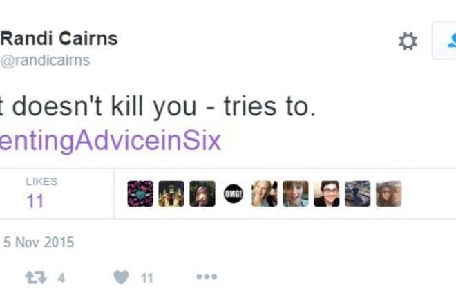 randi cairns parenting advice tweet