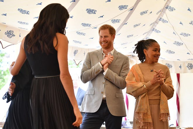 Meghan Markle, Prince Harry and Doria Ragland cookbook launch