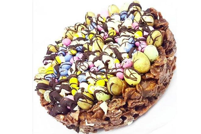 20. Eggsplosion cake