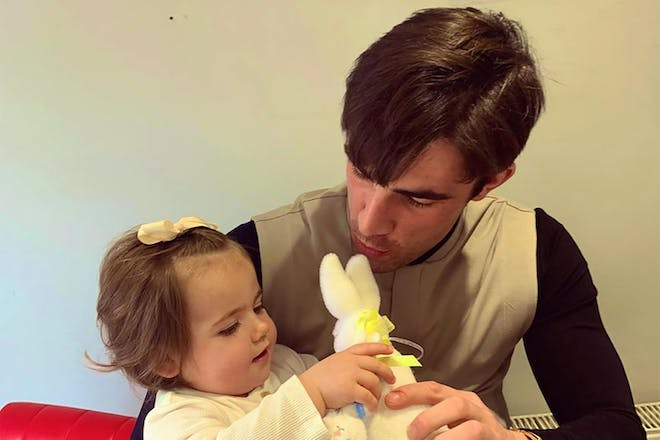 Jack Fincham with his daughter