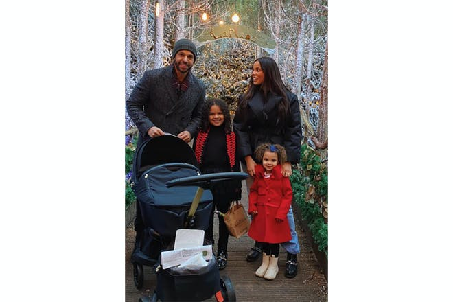 Rochelle Humes and family at Christmas
