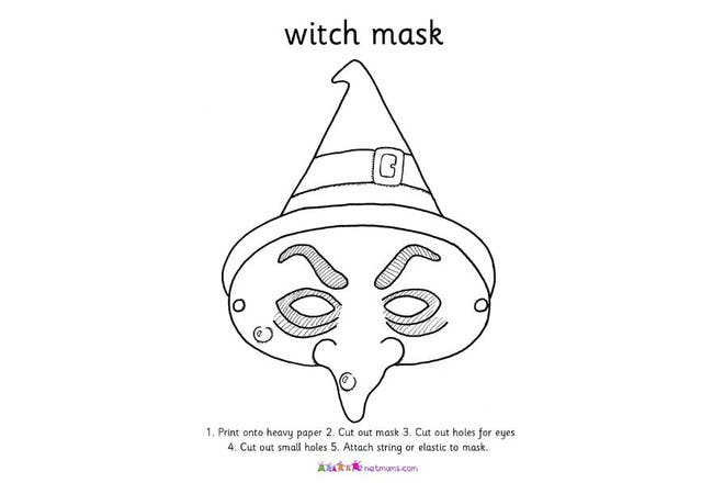 witch mask print off