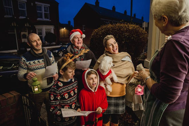 A family of carol singers