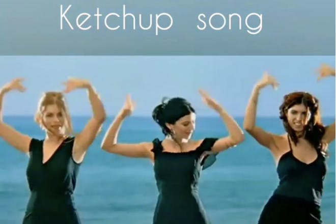 Ketchup song video still