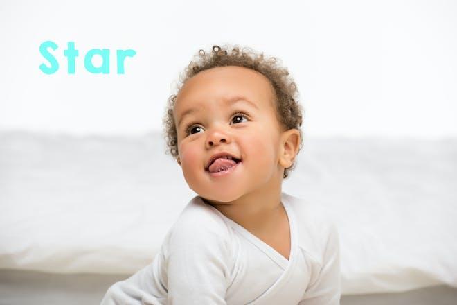Baby smiling