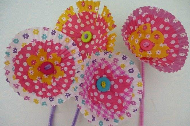 Cupcake case blooms