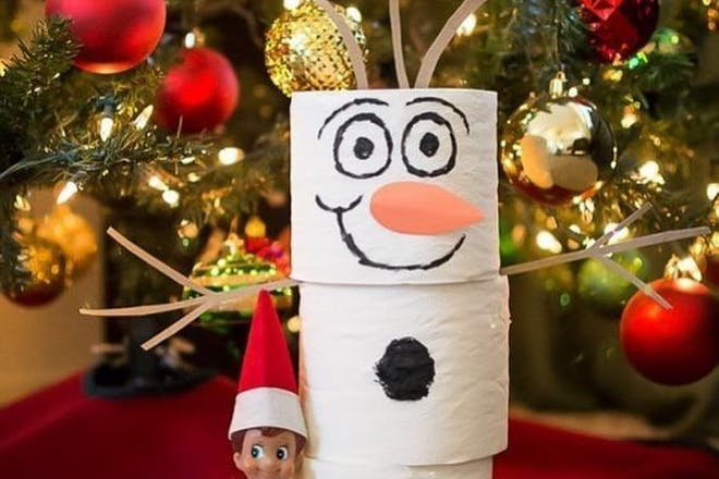 65. Toilet roll snowman