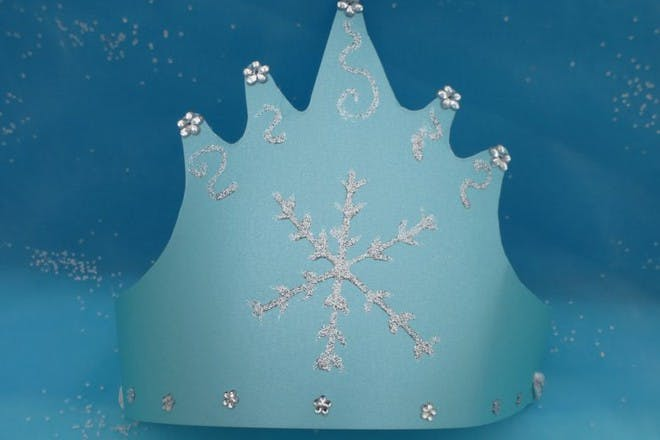 Frozen inspired party crown