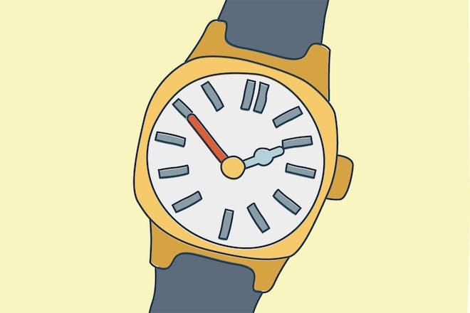 Cartoon wristwatch