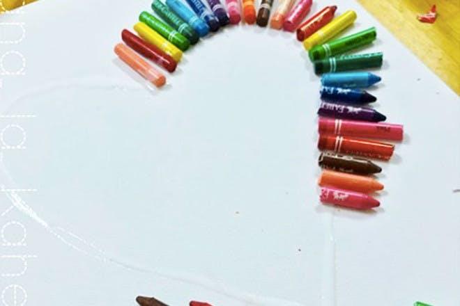 Heart crayon melt (step 2)