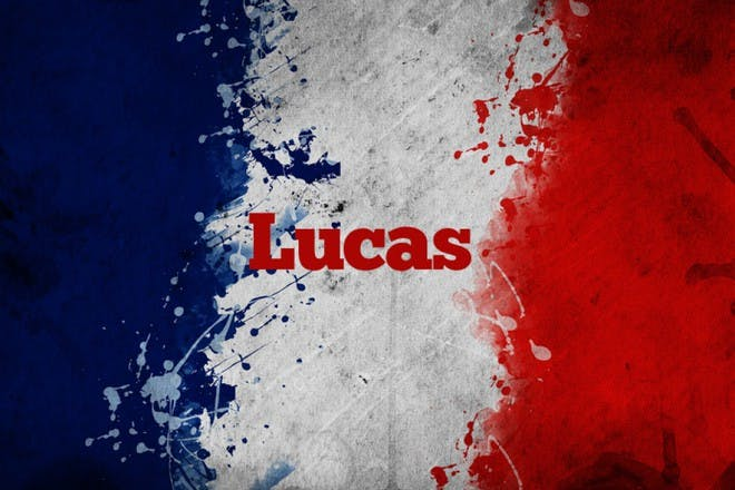 french flag with name