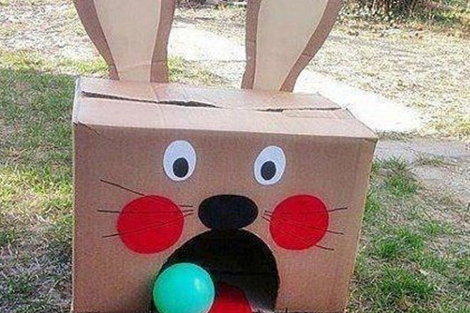 Easter bunny ball toss