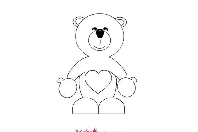 Teddy bear Valentine's card