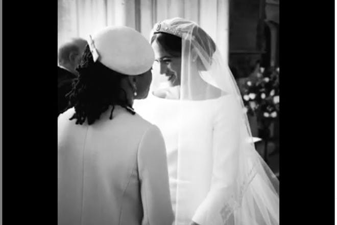 Meghan and Doria on Meghan's wedding day