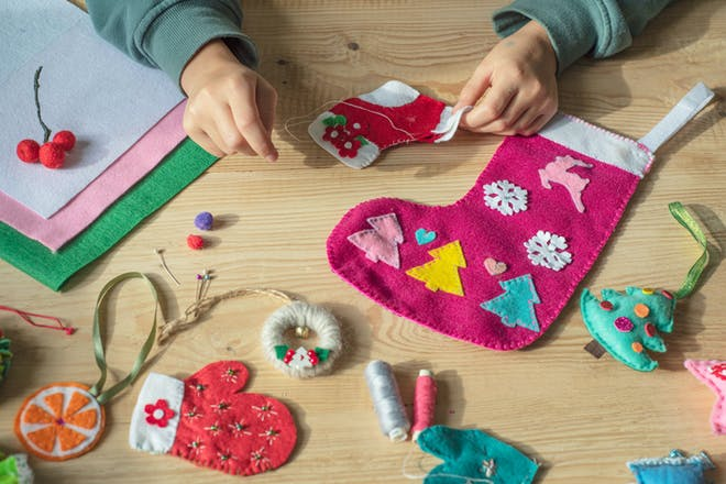 Christmas stocking making