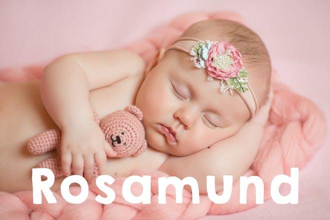 Baby sleeping with headband