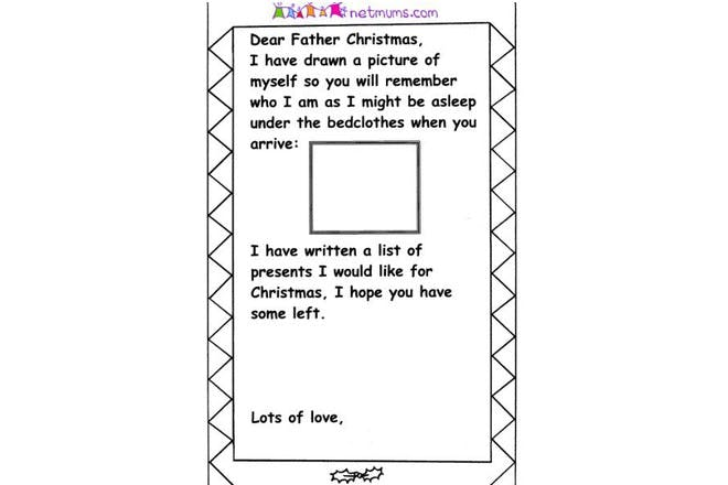 Letters To Santa Templates To Print Off Netmums