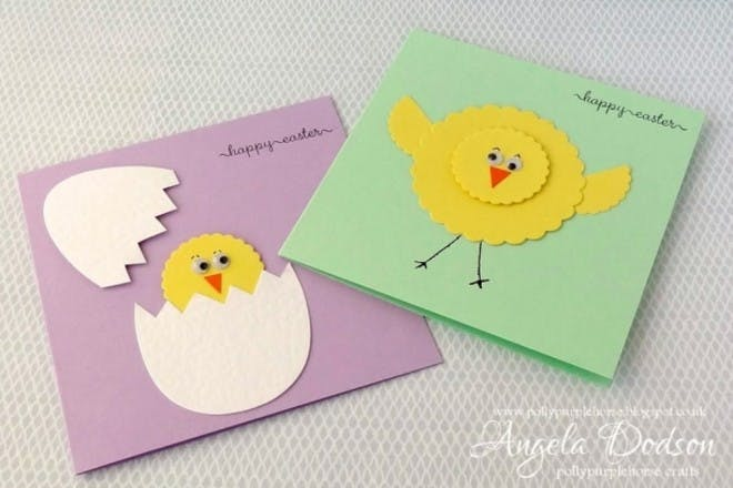 Easter chick and egg cards