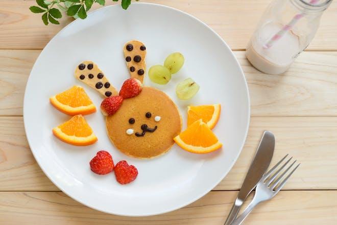 Bunny face pancake