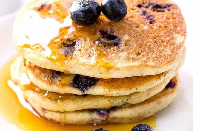 23. Vegan blueberry quinoa pancakes