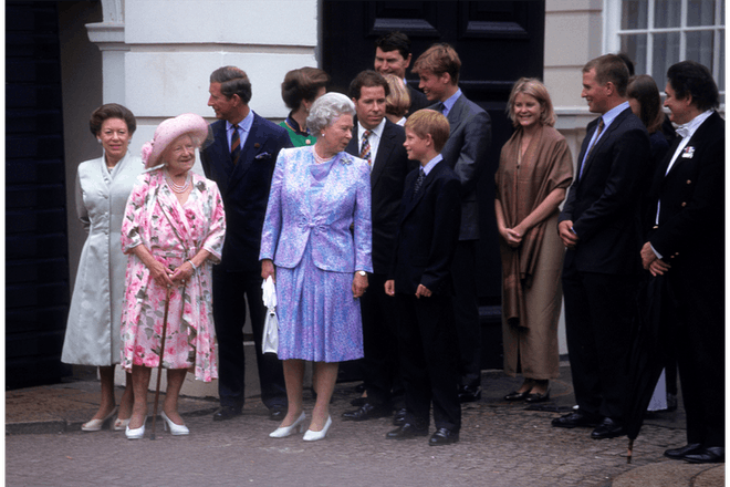 The Queen with young Prince Harry