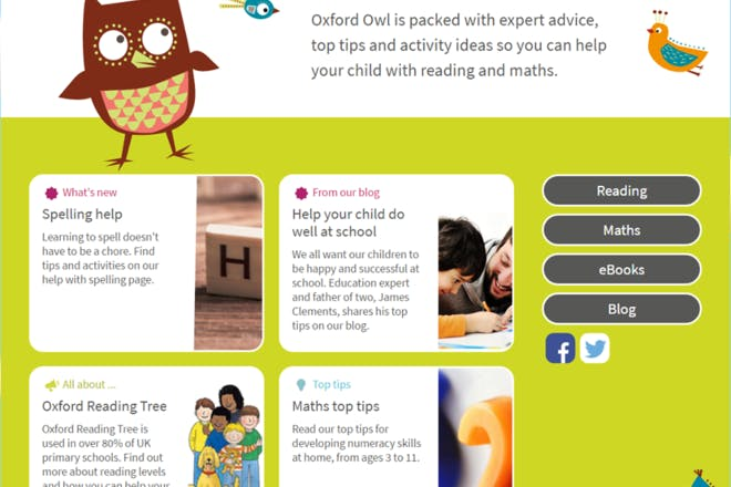 Oxford Owl educational website