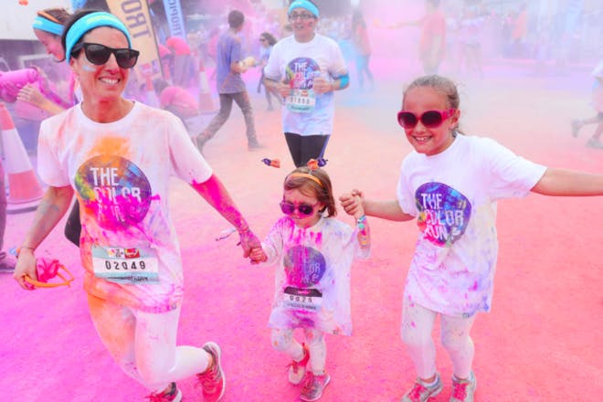 27. Get active on a Color Run, Bath and other locations