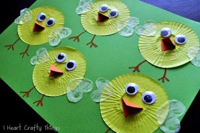 Cupcake case chicks