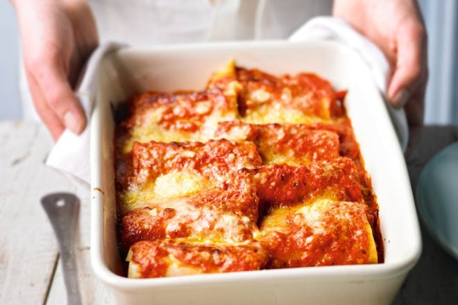 chicken and vegetable cannelloni