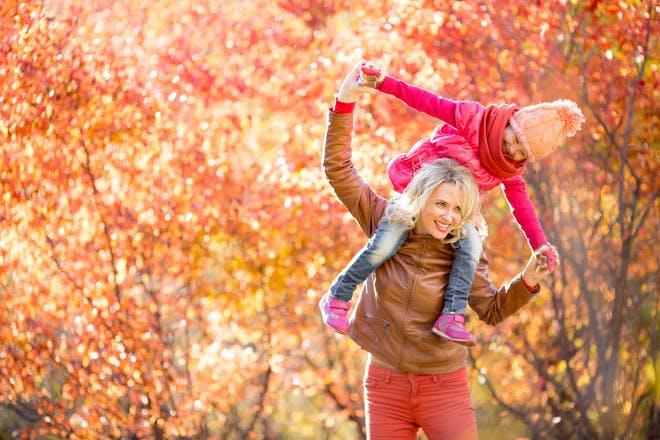 Autumn fun outdoors