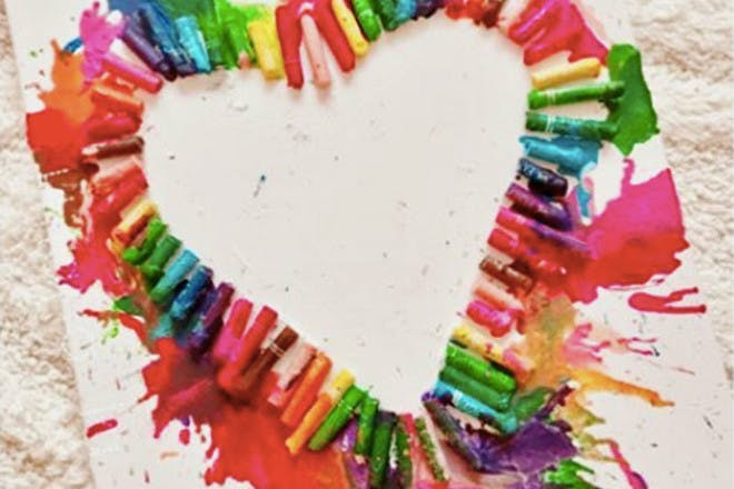 19. Heart crayon melt