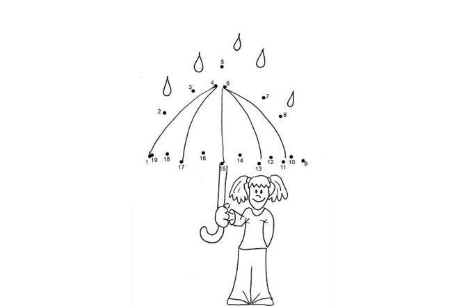 girl holding umbrella in rain