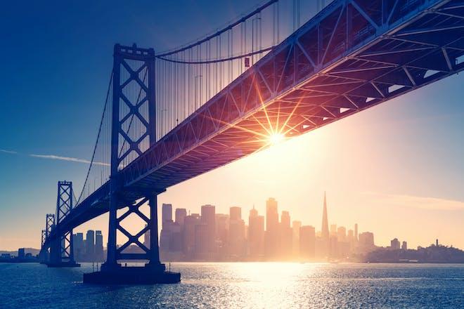 Golden Gate Bridge in sunlight