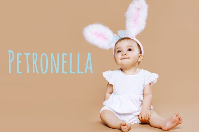 baby with bunny ears