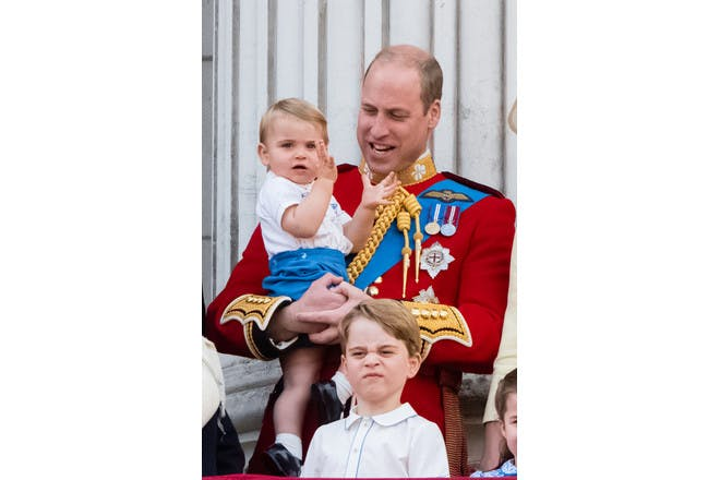 Prince George, Prince Louis and Prince William at Trooping the Colour 2019