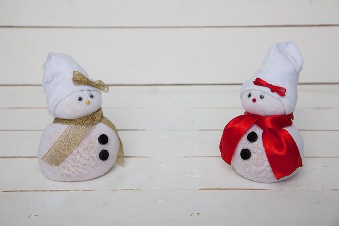 5. No-sew sock snowman