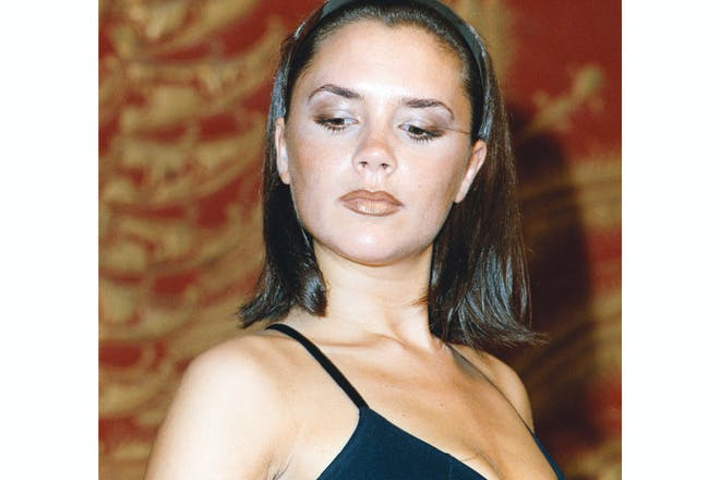 Victoria Beckham in 1997 with obvious brown lip liner