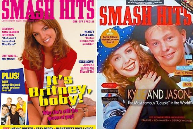 Two Smash Hits magazine covers