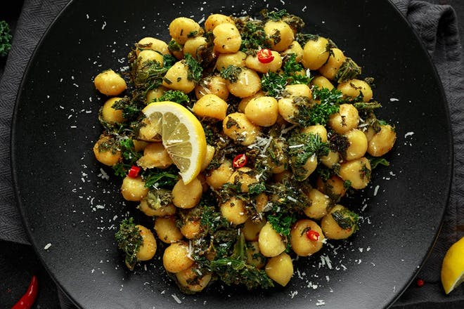 Gnocchi with kale and lemon